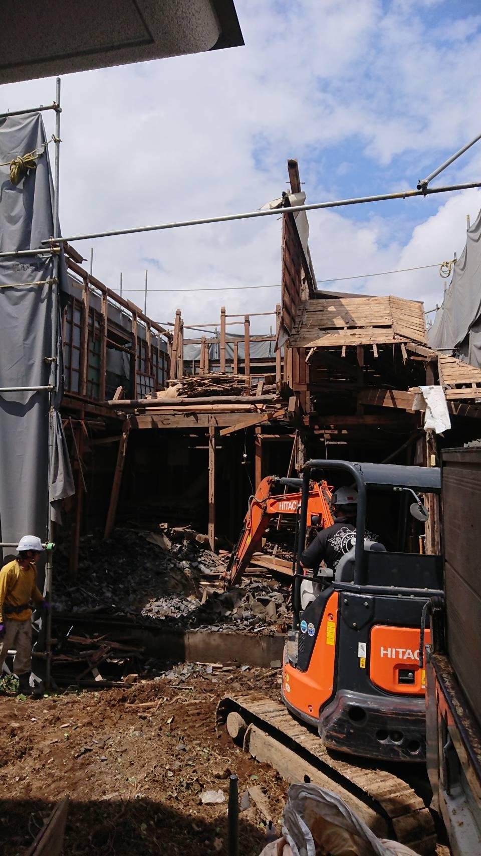 江戸川区船堀の52坪木造家屋 解体工事 施工事例